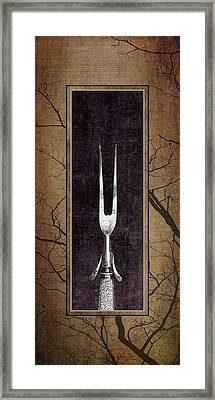 Carving Set Fork Triptych 1 Framed Print by Tom Mc Nemar