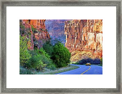 Framed Print featuring the photograph Carving The Canyons - Unaweep Tabeguache - Colorado by Jason Politte