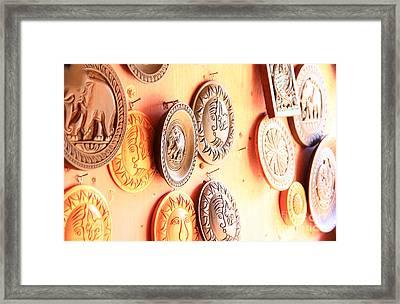Carvings With Summer Glow  Framed Print by Prar Kulasekara