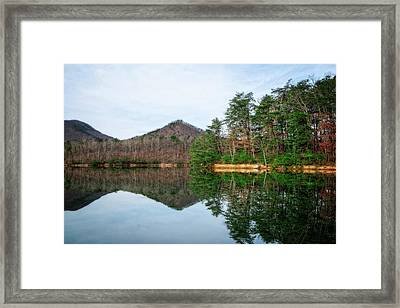 Framed Print featuring the photograph Carvins Cove  by Alan Raasch