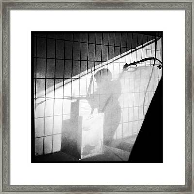 Carwash Shadow And Light Framed Print