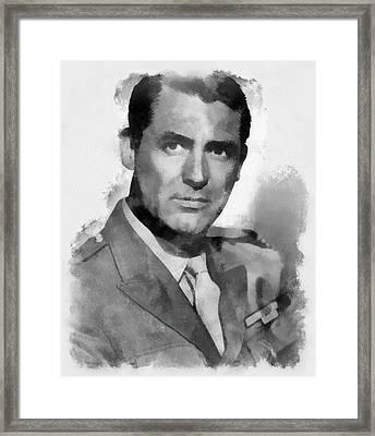 Cary Grant Actor Framed Print by Esoterica Art Agency