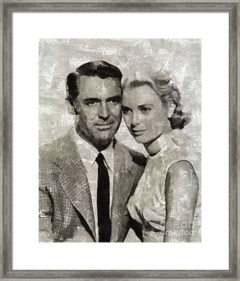 Cary Grant And Grace Kelly, Hollywood Legends Framed Print