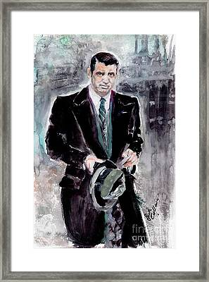 Cary Grant Classic Movies Actors Framed Print by Ginette Callaway