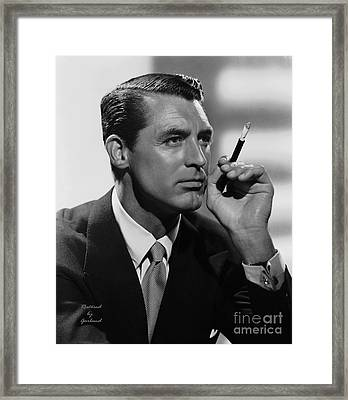 Cary Grant Framed Print by Garland Johnson