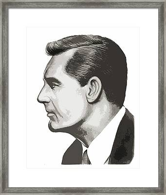 Cary Grant Framed Print by Greg Joens