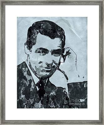 Cary Grant Hollywood Actor Framed Print