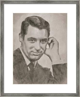 Cary Grant Hollywood Icon Framed Print by John Springfield