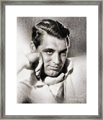 Cary Grant, Hollywood Legend By John Springfield Framed Print