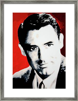 Cary Grant Framed Print by Luis Ludzska