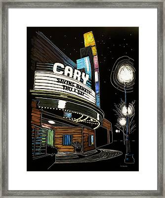 Cary Theater Framed Print by Tommy Midyette