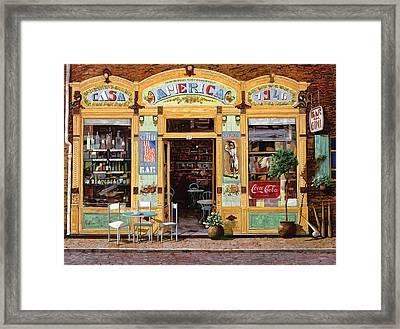 Casa America Framed Print by Guido Borelli