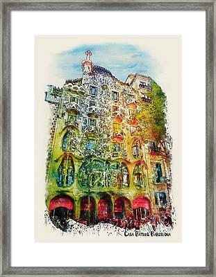 Casa Batllo Barcelona Framed Print by Marian Voicu
