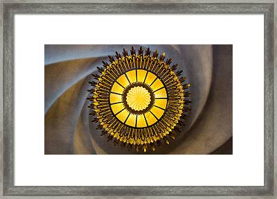Casa Batllo Ceiling Lamp Barcelona Spain Framed Print