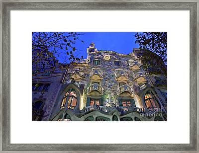 Casa Batllo In Barcelona Framed Print