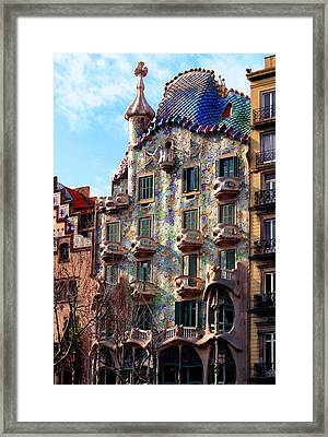 Casa Batllo Framed Print by Vincent Abbey
