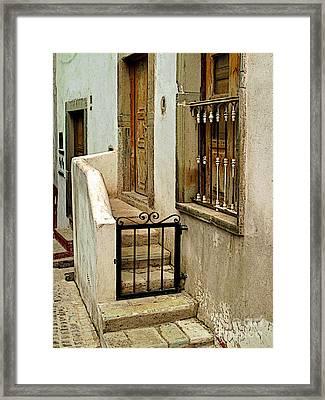 Casa De Crema Framed Print by Mexicolors Art Photography