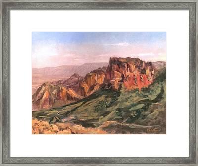 Casa Grande Framed Print by J P Childress