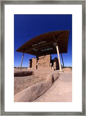 Casa Grande Ruins From Northeast Framed Print by Brian Lockett