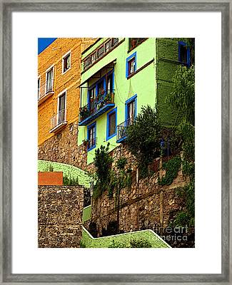 Casa Lima On The Hill Framed Print by Mexicolors Art Photography