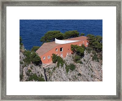 Casa Malaparte Framed Print by Adam Schwartz