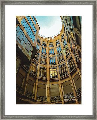Framed Print featuring the photograph Casa Mila - Barcelona by Colleen Kammerer