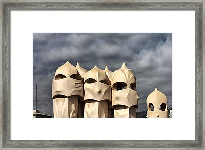 Casa Mila Masks Framed Print