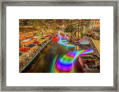 Casa Rio Rainbow Framed Print