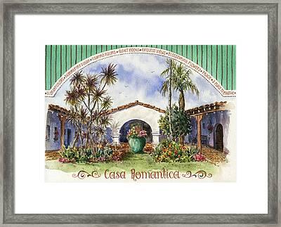 Casa Romantica Courtyard Framed Print