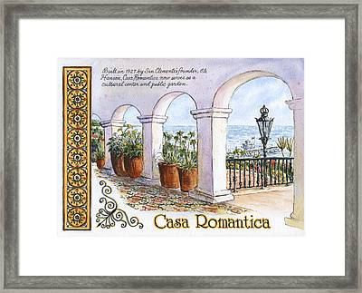 Casa Romantica Terrace Framed Print