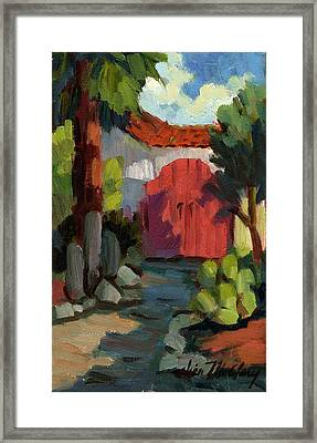 Casa Tecate Gate Framed Print by Diane McClary