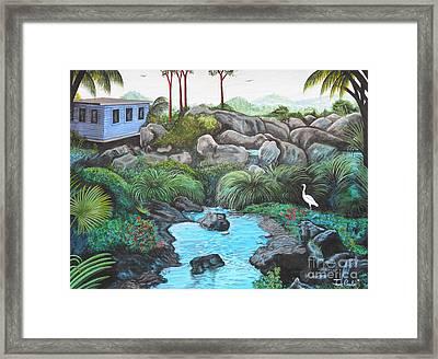 Casa Tropical Framed Print by Juan Gonzalez