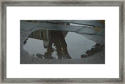 Casa Uno Puddle Framed Print by Ron Sylvia