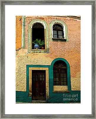 Casa With Sea Green Framed Print by Mexicolors Art Photography
