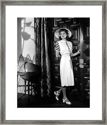 Casablanca, Ingrid Bergman Wearing Framed Print