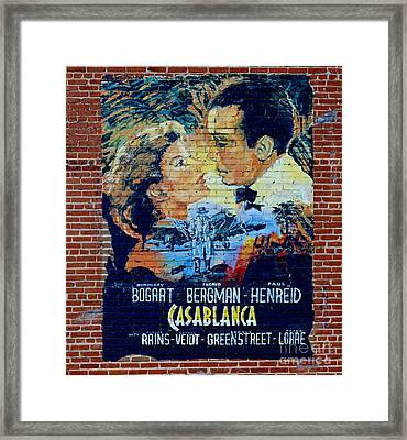 Framed Print featuring the photograph Casablanca Mural 2013 by Padre Art