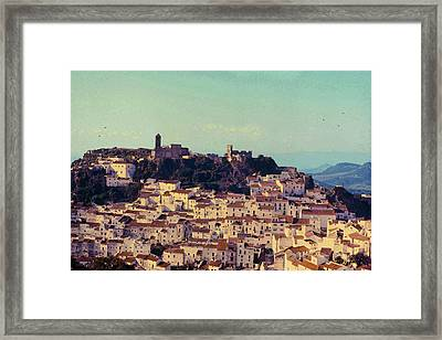 Casares Espana In Golden Light Circa 1972 Framed Print by Robert J Sadler