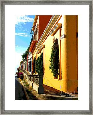 Casas On The Hill By Darian Day Framed Print by Mexicolors Art Photography