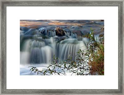 Cascade At Sunrise Framed Print
