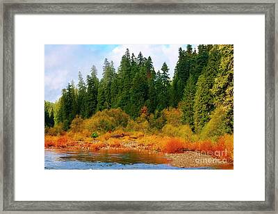 Cascade Autumn Framed Print