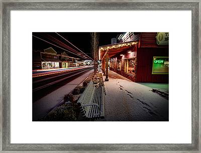 Framed Print featuring the photograph Cascade Avenue by Cat Connor