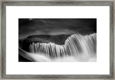 Cascade - Black And White Framed Print by Stephen Stookey