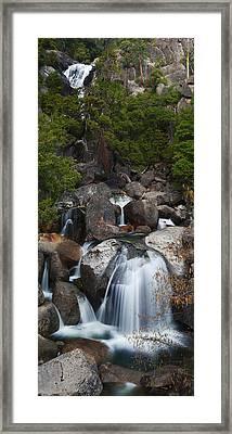Cascade Creek Framed Print by Bernard Chen