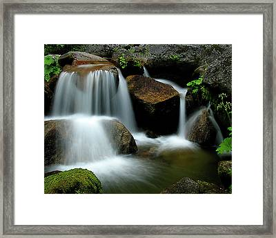 Cascade Creek Yosemite Framed Print