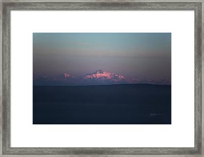 Cascade Framed Print by Ed Boudreau