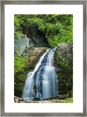 Framed Print featuring the photograph Cascade Falls In South Portland In Maine by Ranjay Mitra