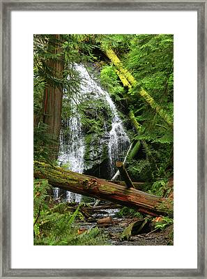 Cascade Falls - Orcas Island Framed Print by Art Block Collections