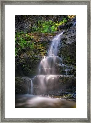 Framed Print featuring the photograph Cascade Falls, Saco, Maine by Rick Berk
