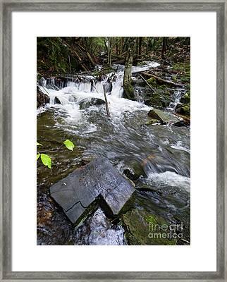 Cascade Falls Stream, Farmington, Maine  -30329 Framed Print