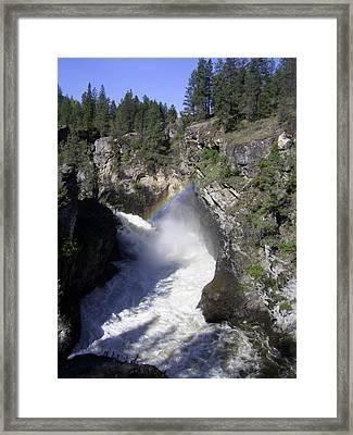 Cascade Gorge Kettle River Grand Forks Bc Framed Print by Barbara St Jean
